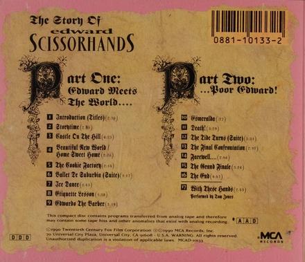Edward Scissorhands : original motion picture soundtrack