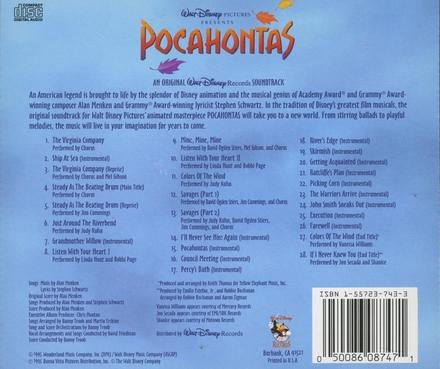 Pocahontas : original soundtrack