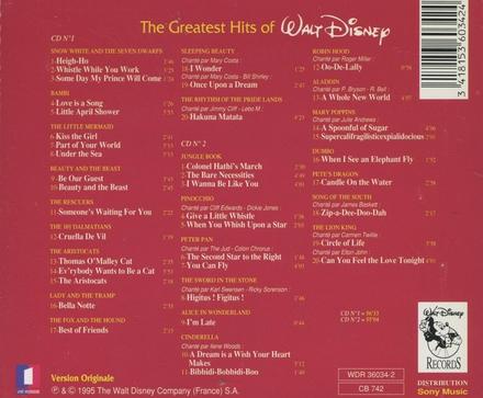 The greatest hits of Walt Disney