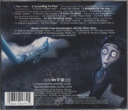 Corpse bride : original motion picture soundtrack