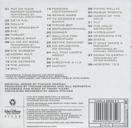 Wall.E : an original Walt Disney records soundtrack