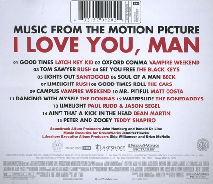 I love you, man : music from the motion picture