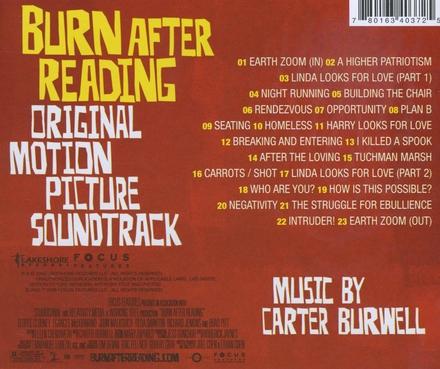 Burn after reading : original motion picture soundtrack