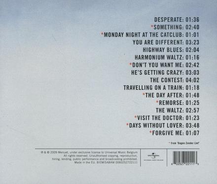 De helaasheid der dingen ; Dagen zonder lief : soundtracks