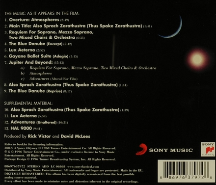2001 : a space odyssey : original motion picture soundtrack