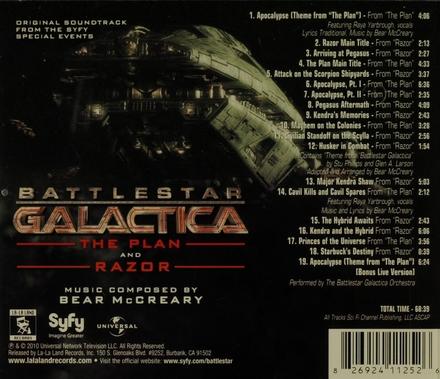 Battlestar Galactica : The plan and Razor : original soundtrack