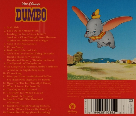 Walt Disney's Dumbo : original soundtrack