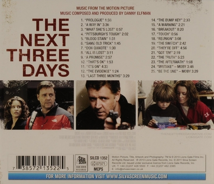 The next three days : music from the motion picture