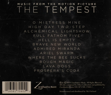 The tempest : music from the motion picture