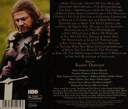 Game of thrones : music from the HBO series. [Season 1]