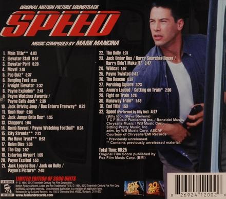 Speed : original motion picture soundtrack