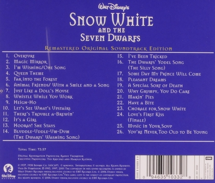Snow White and the seven dwarfs : Disney original soundtrack