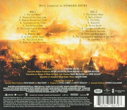 The Hobbit : the battle of the five armies : original motion picture soundtrack