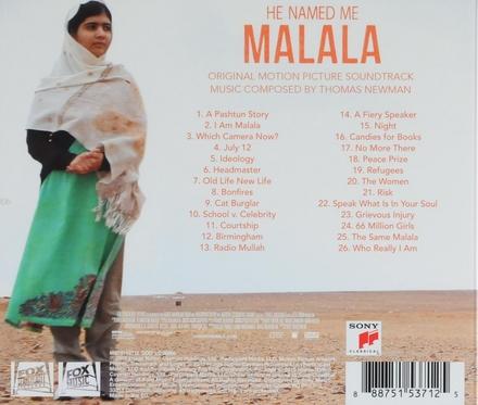 He named me Malala : original motion picture soundtrack