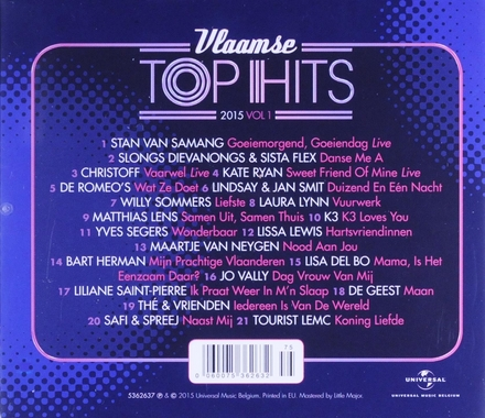 Vlaamse top hits 2015. Vol. 1