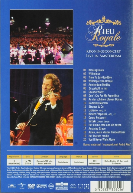 Rieu royale : Kroningconcert live in Amsterdam