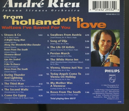 From Holland with love : Waltzes I've saved for you