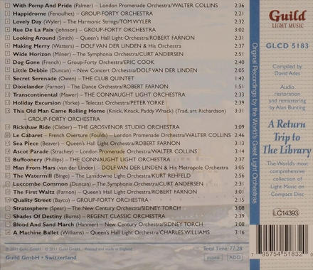 The golden age of light music : A return trip to the library