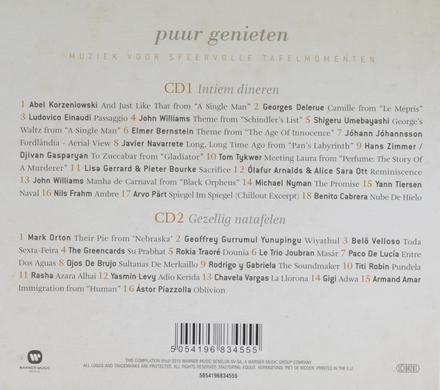 Puur genieten : muziek voor sfeervolle tafelmomenten. [1]