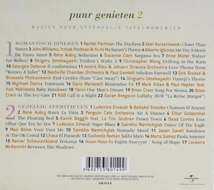 Puur genieten : muziek voor sfeervolle tafelmomenten. 2