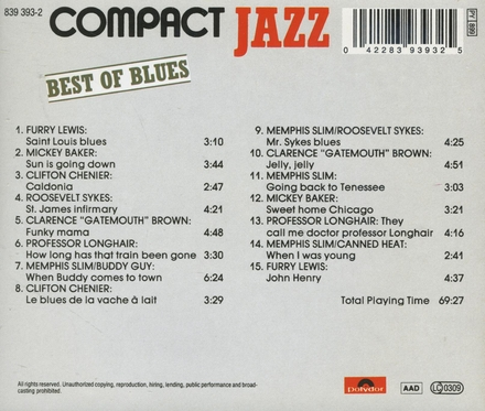 Compact jazz - best of blues