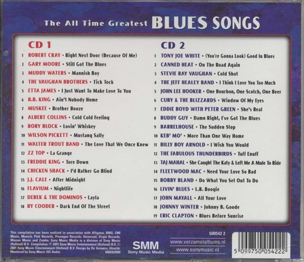 Blues songs : the all time greatest
