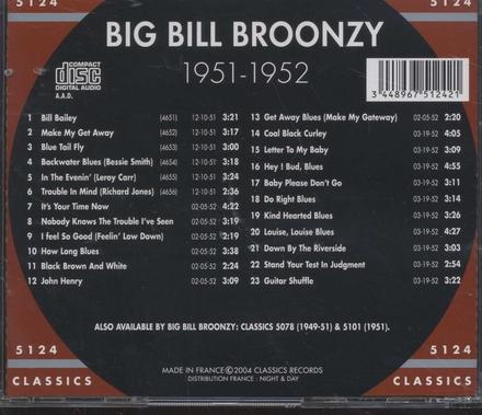 The chronological 1951-1952