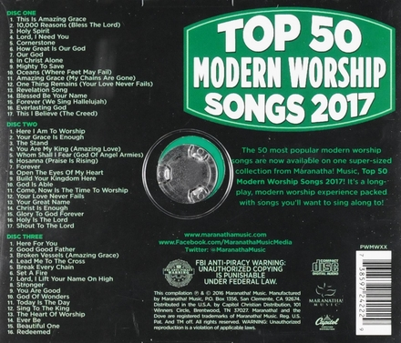 Top 50 modern worship songs 2017