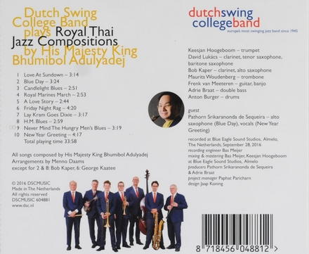 Royal Thai jazz compositions by His Majesty King Bhumibol Adulyadej