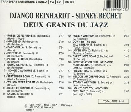 Deux geants du jazz