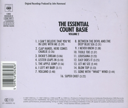 The essential Count Basie. vol.2