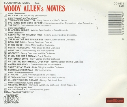 Soundtrack music from Woody Allen's movies