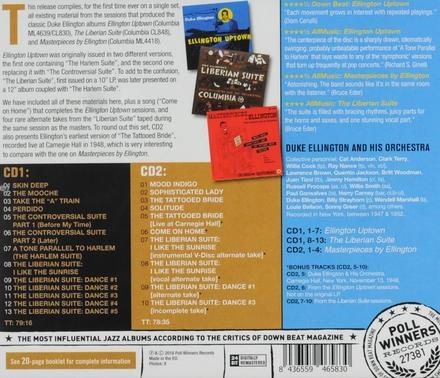 Ellington uptown ; The Liberian suite ; Masterpieces by Ellington