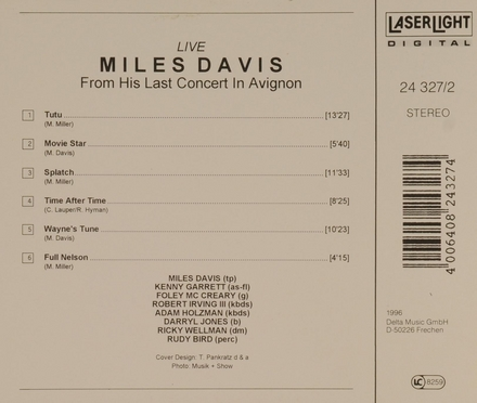 Live : from his last concert in Avignon. Disc 2