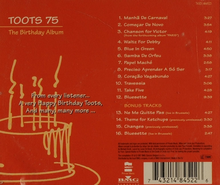 Toots 75 : the birthday album