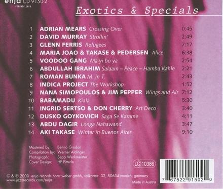Exotics & specials