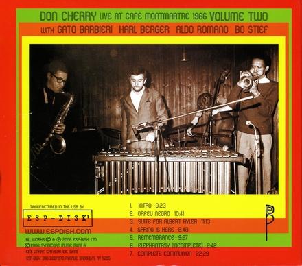Live at Café Montmartre 1966. Vol. 2
