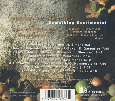 (Another) Nuttree Quartet : Something sentimental