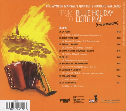 From Billie Holiday to Edith Piaf : live in Marciac