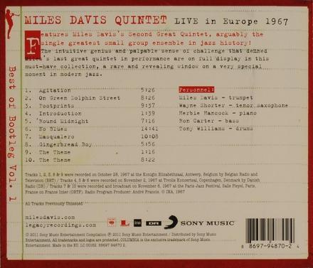 Live in Europe 1967 : Best of bootleg. Vol. 1