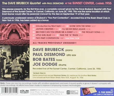 At the Sunset Center Carmel 1955