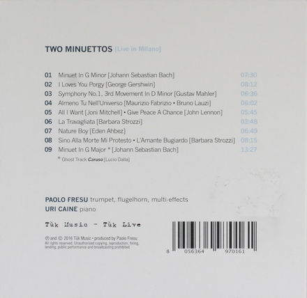 Two minuettos : Live in Milano