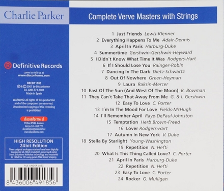 Complete verve masters with strings