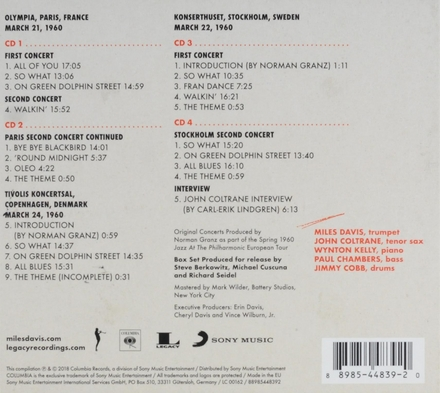 Miles Davis & John Coltrane : the final tour : the bootleg series. Vol. 6