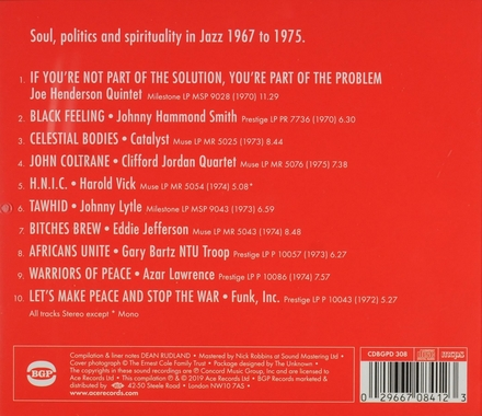 If you're not part of the solution... : soul, politics and spirituality in jazz 1967 to 1975