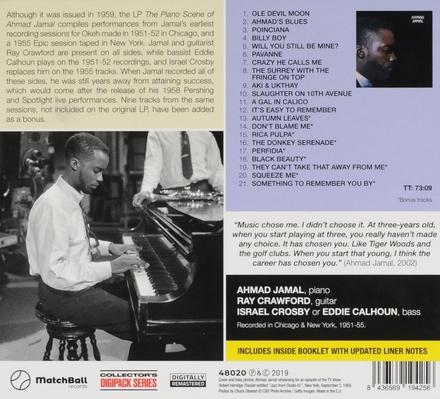 The piano scene of Ahmad Jamal