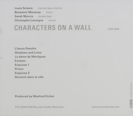 Characters on a wall