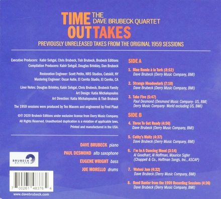 Time outtakes : previously unreleased takes from the original 1959 sessions