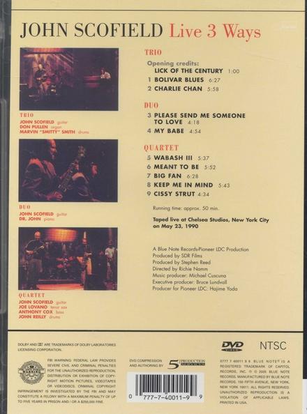 Live 3 ways - 1990