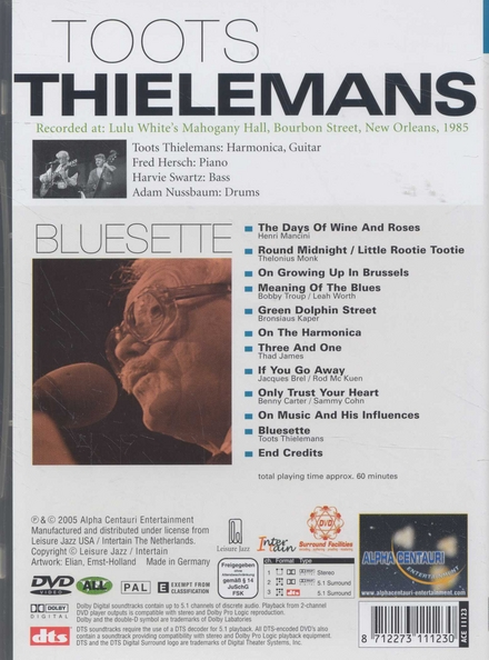 Bluesette : live in New Orleans, 1985